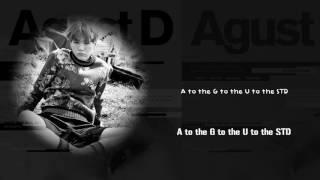 BTS Suga (AGUST D) - AGUST D [Lyrics Han|Rom|Eng]