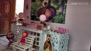 O dia da festa - tema Masha e o urso