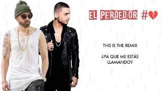 El Perdedor Remix   Maluma Ft  Yandel  Video Letra 2016