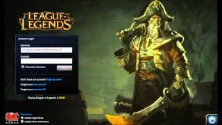 League of Legends Captain Gangplank Login Screen + Music