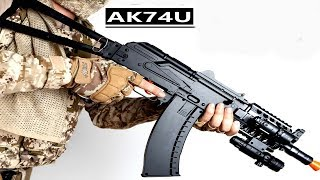 TOP SPEC Semi / Auto AK74U Gel Bullet Gun (UNBOXING/SHOOTING TEST)