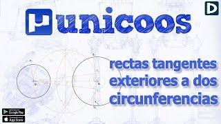 Imagen en miniatura para Rectas tangentes exteriores a dos circunferencias I