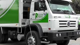 Presentación de camiones compactadores y contenedores de basura