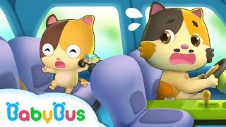 Safety Tips in a Car | Kids Safety Tips | Play Safe Song | Nursery Rhymes | Kids Songs | BabyBus
