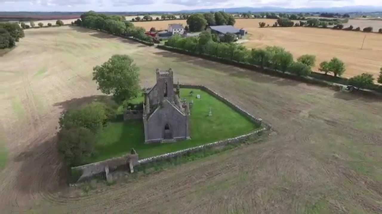 Ballinafagh Church - Co Kildare from the Air