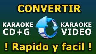 Convertir Karaoke CDG a Video AVI | Karafun Player Karaoke PC