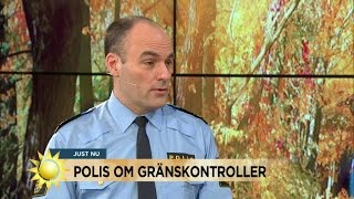 """""""Det lär bli fler poliser på bron, som är gränskontrollens största utmaning"""" - Nyhetsmorgon (TV4)"""