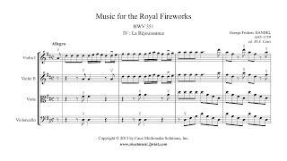 Handel : La Réjouissance - Music for the Royal Fireworks