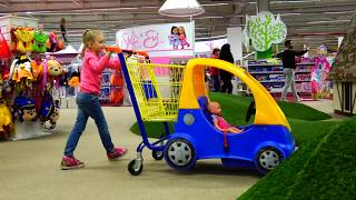 Funny Baby Doll Doing Shopping in the Supermarket Rhymes song for kids