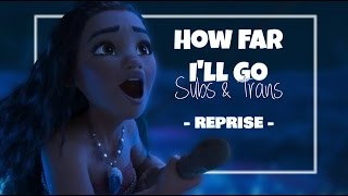 Moana / Vaiana - How Far I'll Go (Reprise) [European Portuguese] Subs and Trans