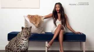 GoldenBrooks Behind the scenes photo shoot with a leopard