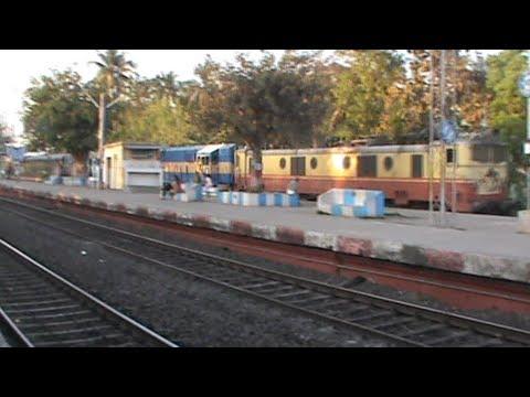 Bangladesh Railways' alco (6501 BED-30) piggyrides WAM-4 Akal Takht Superfast
