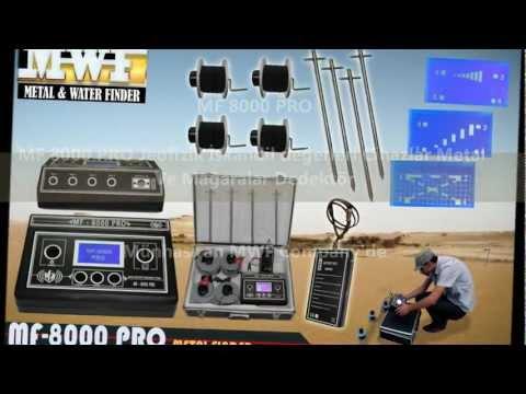 MF 8000 PRO ( 2013 ) Jeofizik İskandil değerleri Cihaz Metal Ve Mağaralar Dedektör