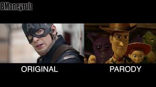 'Disney / Pixar's Captain America: Civil War': Side-By-Side With Trailer 2 (HD)