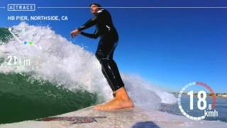Trace: Surfing - Jay Donahue at HB Pier, Northside
