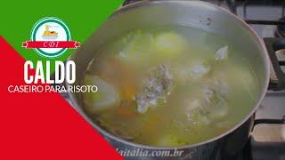 Caldo caseiro para Risoto - Especial de Natal -  Culinaria direto da Italia