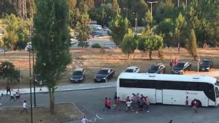 Pancadaria entre adeptos do Benfica e do Braga - Supertaça 2016