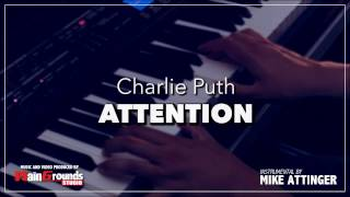 Charlie Puth - Attention- Piano acoustic karaoke / Lyrics / Instrumental / Cover