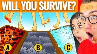 INSANE MYSTERY RIDDLES TO TEST SURVIVAL SKILLS! W/ Girlfriend Azzyland