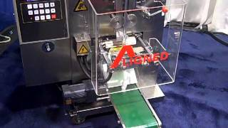 Sample pack Machine Single dose foil packets packet how its made