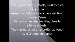 Tout c'que j'ai-booba(lyrics)