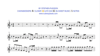 CHAINSMOKERS 🔊 CLOSER 🔥Eb ALTO SAX 🎼 NOTES
