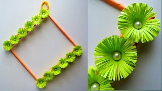 Easy Paper Flower Wall Hanging Diy Youtube