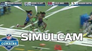 40-Yard Dash Simulcam: Shaquem Griffin vs. Sherman, Zeke, Julio & More! | NFL Combine Highlights