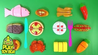 Learning Food Bakery Fruits Vegetables Food Names for kids with Pizza Cake Carb Bread Toys [KOR]