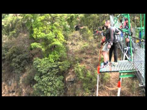 Ricky's bungy at The Last Resort, Nepal
