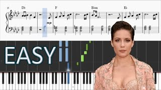 Halsey - Not Afraid Anymore (Fifty Shades Darker) - EASY Piano Tutorial + SHEETS