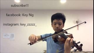 The Avengers theme - violin