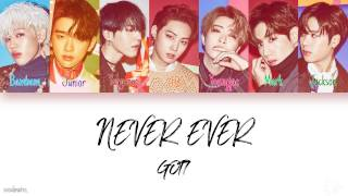 GOT7 - Never Ever (Color Coded Lyrics) Han|Rom|Eng