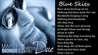 "Mario Biondi - New Single ""Blue Skies"" - Official Video Lyric"