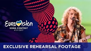 Manel Navarro - Do It For Your Lover (Spain) EXCLUSIVE Rehearsal footage