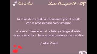 Nota de amor (Letra) - Carlos Vives Feat Wisin y Daddy Yankee