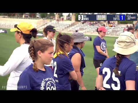 Video Thumbnail: 2019 College Championships, Women's Pool Play: Tufts vs. Western Washington