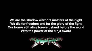 DragonForce - Power Of The Ninja Sword (Shadow Warriors Cover) | Lyrics on screen | HD