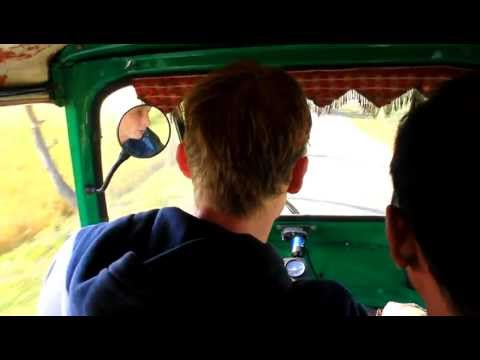 Joost driving a autorickshaw like arickshawallah