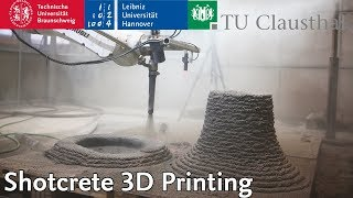 Shotcrete 3D Printing @ DBFL   TU Braunschweig