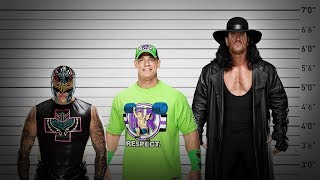 What's the average size of a WWE Champion?