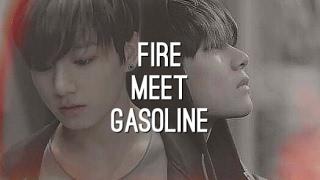 taekook– fire meet gasoline
