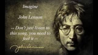 Imagine - John Lennon - Lyrics