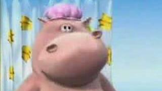 Video divertenti Happy Hippo nella vasca da bagno