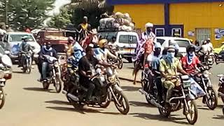 TOGO: La caravane du candidat Agbéyomé Kodjo dans la ville de Sokodé.