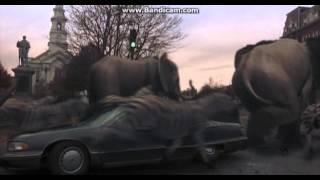 Jumanji Stampede Car Crash Scene