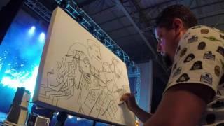 Live Painting do Muro por Marcelo Bittencourt (Homem Que Voa)
