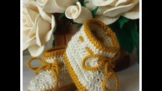 Botinha em crochê para bebê - modelos