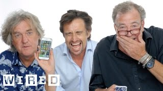 Jeremy Clarkson, Richard Hammond & James May Show Us the Last Thing on Their Phones | WIRED