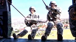 Rappeling From Helicopters • U.S. Army Air Assault School